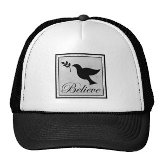 Believe and Peaceful Dove Trucker Hat