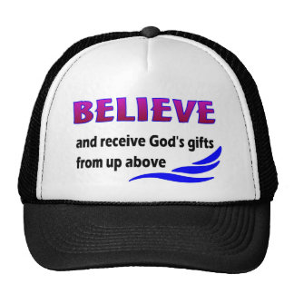 Believe and receive God's gifts Mesh Hats