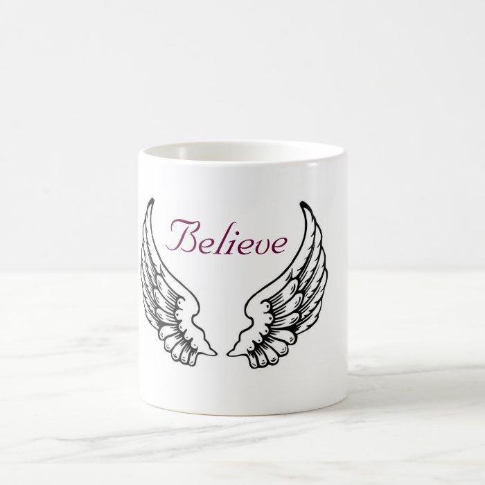 Believe - Angel Wings Coffee Mug