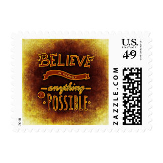 Believe Anything is Possible Inspirational Stamp