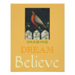 Believe Art Poster / Sally Coupe Jacobson