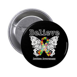 Believe Autism Awareness Button