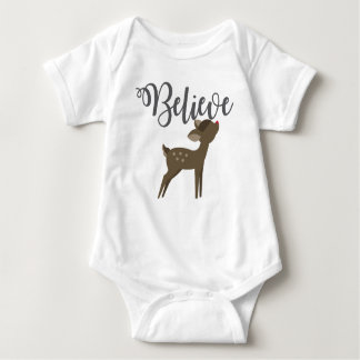 Believe Baby Reindeer Rudolph One Piece Outfit Baby Bodysuit