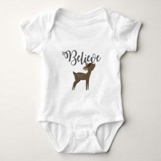 Believe Baby Reindeer Rudolph Shirt