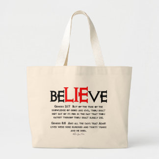 BeLIEve Canvas Bags