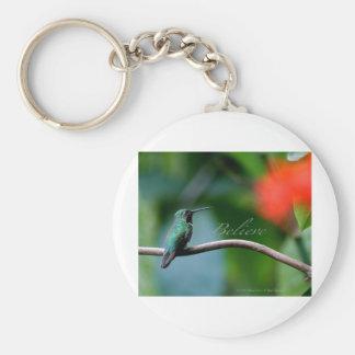 Believe! Basic Round Button Keychain