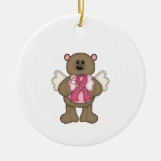 Believe Bear (brown) Ceramic Ornament