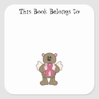 Believe Bear (brown) Square Sticker