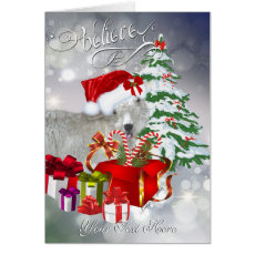 Believe Beautiful Goat BabyGirl Christmas Card