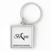 """Believe"" Black Ribbon Collection Keychain"