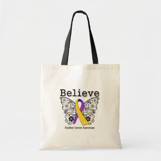 Believe - Bladder Cancer Butterfly Budget Tote Bag