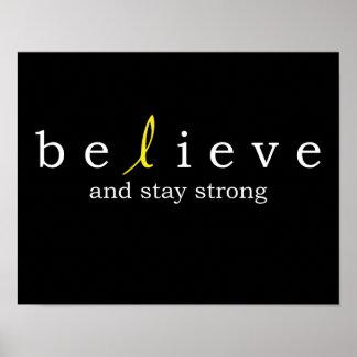 Believe Bladder Cancer Poster