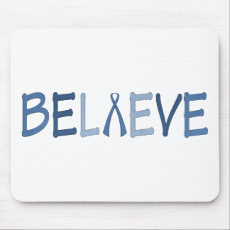 Believe- Blue Awareness Mouse Pad