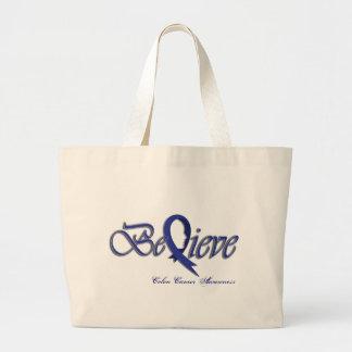 Believe (Blue) Large Tote Bag