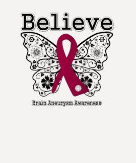 Believe Brain Aneurysm Awareness T-Shirt