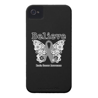 Believe - Brain Cancer Butterfly iPhone 4 Case-Mate Case