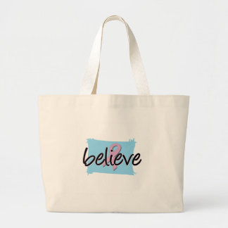 Believe - Breast Cancer Awareness Canvas Bag