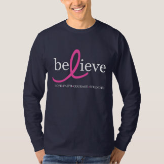 Believe Breast Cancer Ribbon Shirt