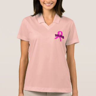 Believe Breast Cancer Women's Nike Polo Shirt/Pink