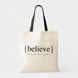 Believe Budget Tote Bag