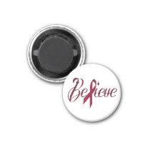 Believe Burgundy Awareness Magnet