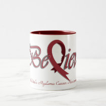 "Believe ""Burgundy"" Two-Tone Coffee Mug"