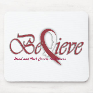 "Believe ""Burgundy white Gift Items"" Mouse Pad"