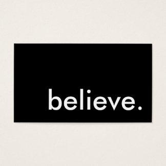 believe. business card