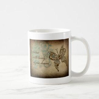Believe Butterfly Classic White Coffee Mug