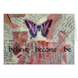 Believe Butterfly Diary Card