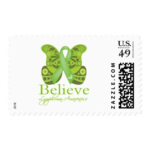 Believe Butterfly -  Lymphoma Awareness Stamps