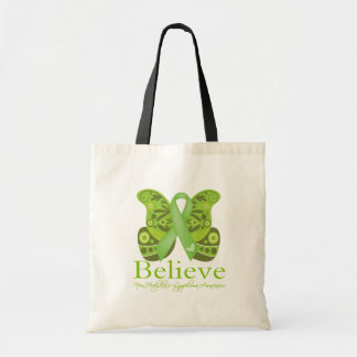 Believe Butterfly - Non-Hodgkins Lymphoma Budget Tote Bag