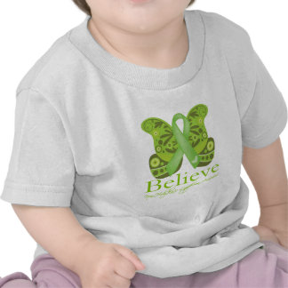 Believe Butterfly - Non-Hodgkins Lymphoma T-shirts