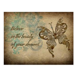 Believe Butterfly Postcard