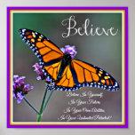 Believe Butterfly Poster