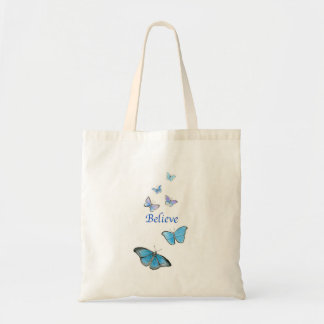 Believe butterfly tote bag