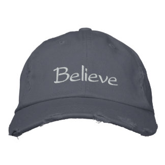 """Believe"" Cap Embroidered Hats"