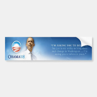 Believe Change Bumper Sticker