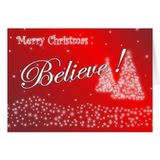 Believe Chistmas Cards
