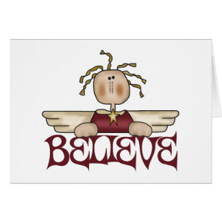 Believe Christmas Angel Christmas Card