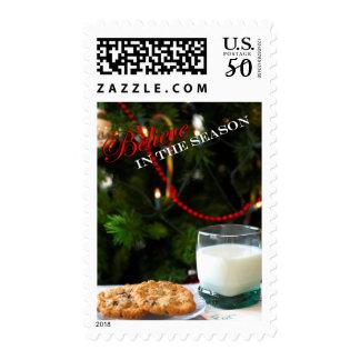 Believe - Christmas cookies & milk for Santa Postage