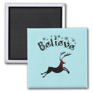 Believe Christmas magnet