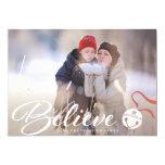 Believe Christmas Photo Card