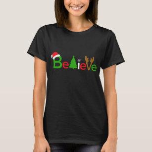 Christmas Shirt Sayings.Believe Christmas Shirt