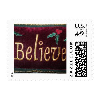 Believe Christmas Stamp