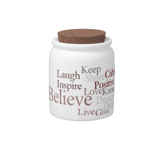 Believe Collage Jar Candy Dishes