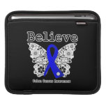 Believe - Colon Cancer Butterfly Sleeve For iPads
