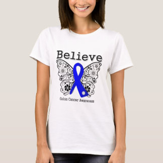 Believe - Colon Cancer Butterfly T-Shirt