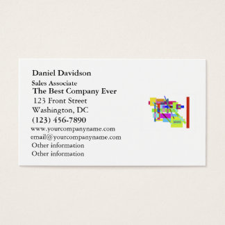 """""""Believe"""" Colorful Boxes Abstract Design Business Card"""