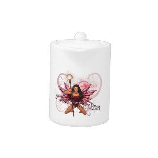 Believe, Create, Dream Pink Fairy Teapot